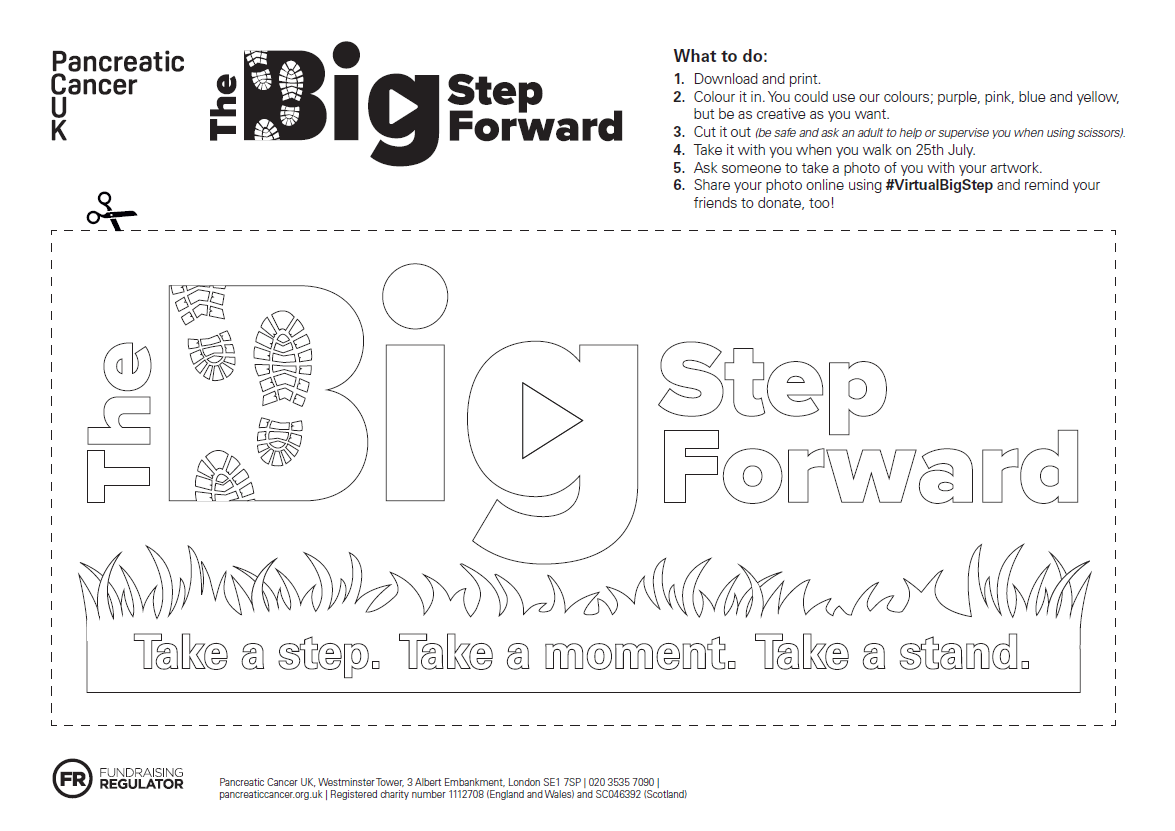 Colour in The Big Step Forward logo