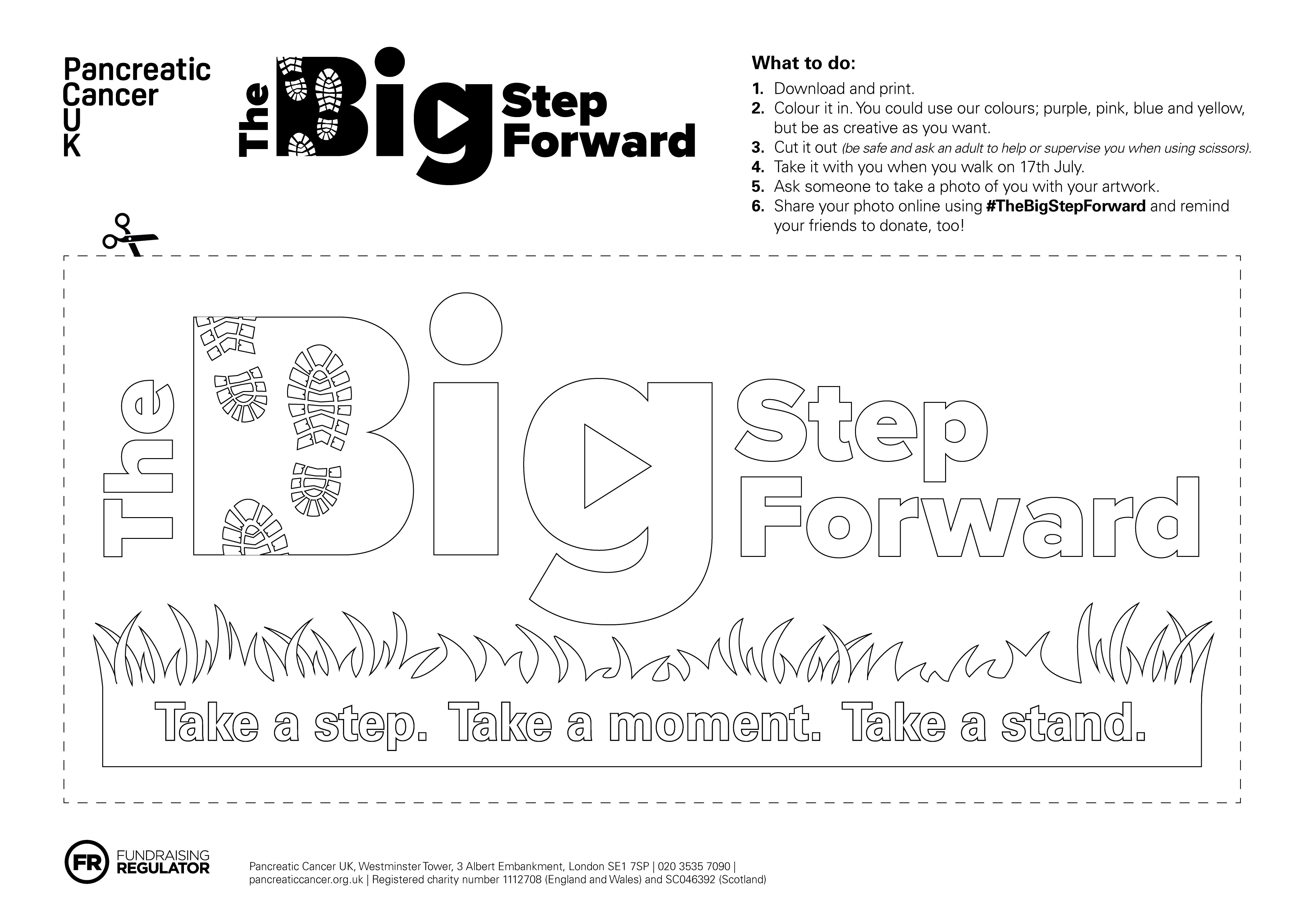 Colour in The Big Step Forward logo 2021